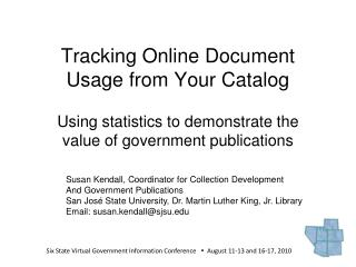 Tracking Online Document Usage from Your Catalog