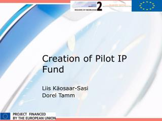 Creation of Pilot IP Fund