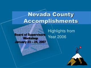 Nevada County Accomplishments