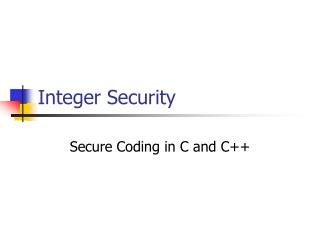 Integer Security