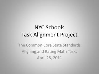 NYC Schools  Task Alignment Project