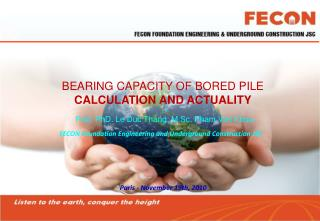 BEARING CAPACITY OF BORED PILE CALCULATION AND ACTUALITY