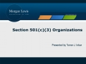 Section 501c3 Organizations