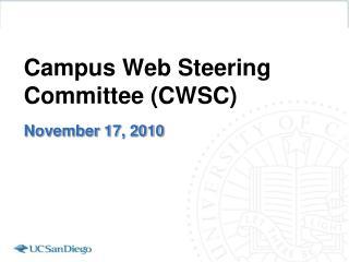 Campus Web Steering Committee (CWSC)
