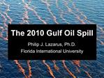 The 2010 Gulf Oil Spill