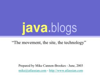 java . blogs