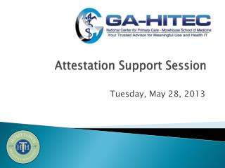 Attestation Support Session