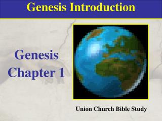Genesis Introduction