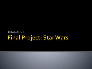 Final Project: Star Wars