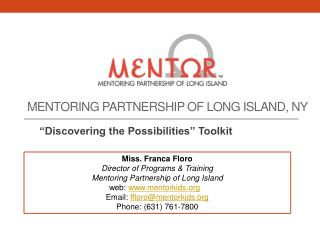 Mentoring partnership  of Long Island, NY