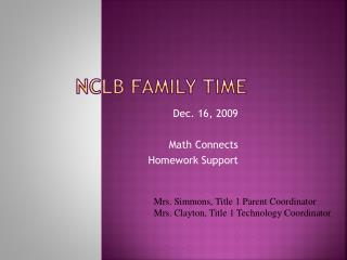 NCLB Family Time