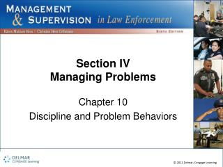 Section IV Managing Problems