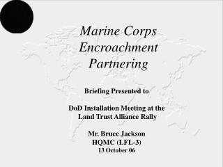 Marine Corps Encroachment Partnering