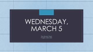 Wednesday, march 5