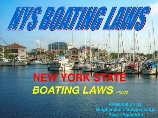 NYS BOATING LAWS