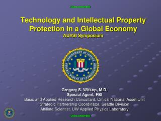 Technology and Intellectual Property Protection in a Global Economy AUVSI Symposium