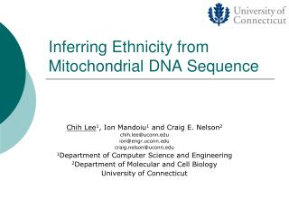Inferring Ethnicity from Mitochondrial DNA Sequence