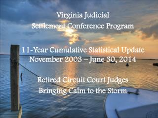 Virginia Judicial Settlement Conference Program