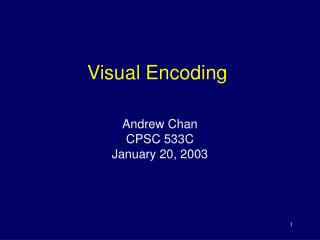 Visual Encoding