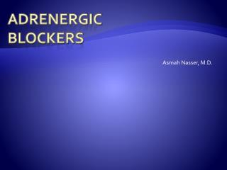 Adrenergic Blockers