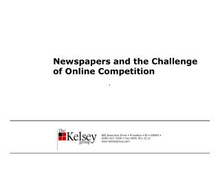 Newspapers and the Challenge of Online Competition