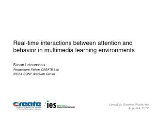 Real-time interactions between attention and behavior in multimedia learning environments