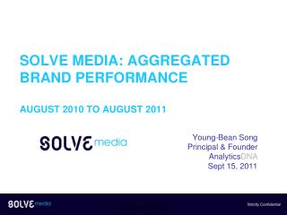 Solve Media: Aggregated Brand Performance August 2010 to August 2011