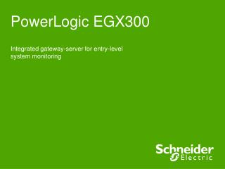 PowerLogic EGX300