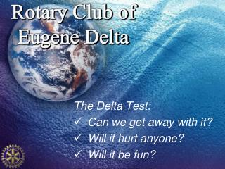 Rotary Club of Eugene Delta