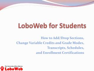 LoboWeb for Students