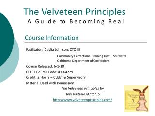 The Velveteen Principles