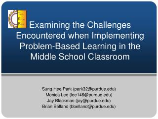 Examining the Challenges Encountered when Implementing Problem-Based Learning in the Middle School Classroom