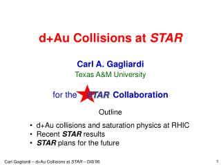 d+Au Collisions at  STAR