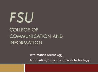 FSU College of communication and information