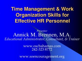 Time Management & Work Organization Skills for Effective HR Personnel