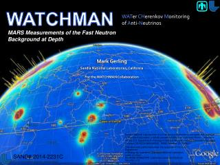 Mark Gerling for the WATCHMAN Collaboration