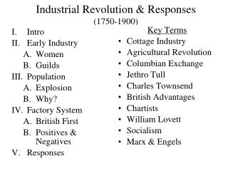 Industrial Revolution & Responses  (1750-1900)