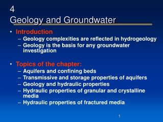 4 Geology and Groundwater