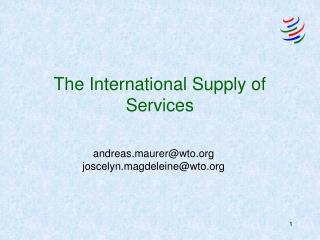 The International Supply of Services