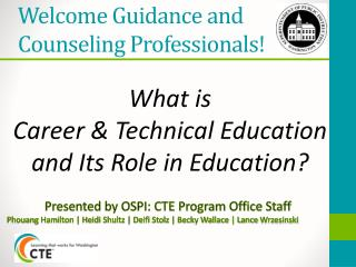 Welcome Guidance and  Counseling  Professionals!