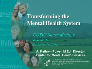 Transforming the Mental Health System