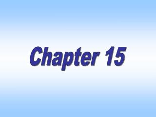 Chapter Fifteen