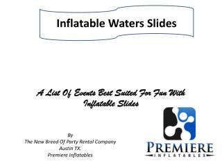 Inflatable Waters Slides