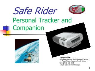 Safe Rider Personal Tracker and Companion