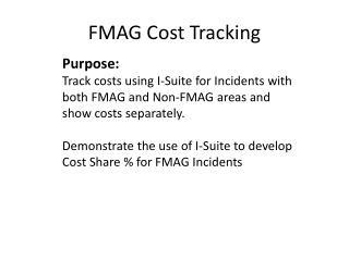 FMAG Cost Tracking