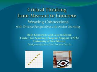 Critical Thinking  from Abstract to Concrete