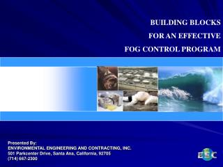 BUILDING BLOCKS  FOR AN EFFECTIVE  FOG CONTROL PROGRAM