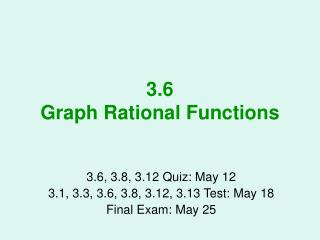 3.6 Graph Rational Functions