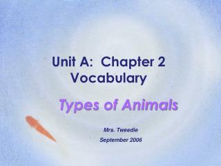 Unit A:  Chapter 2  Vocabulary