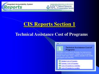 CIS Reports Section 1